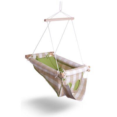 Balík sen bábätka - károvana v zelenej farbe