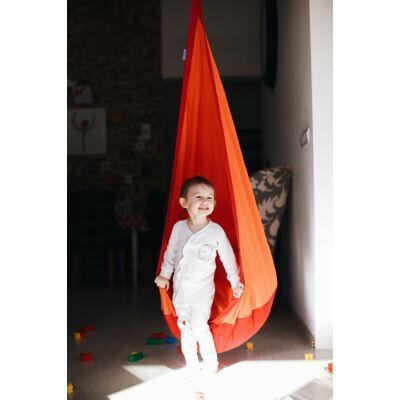 Hojdačka pre deti DROPPO - červeno-oranžová