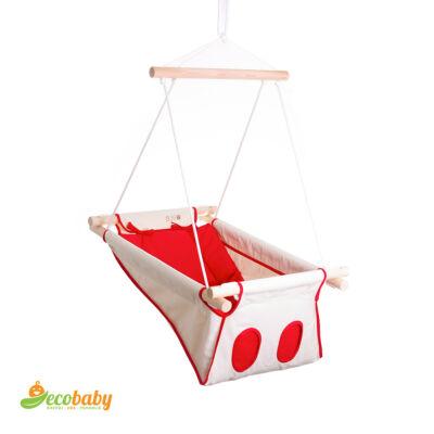 BETO hojdačka pre bábätká BASIC – Cherry Blossow – prírodná červená