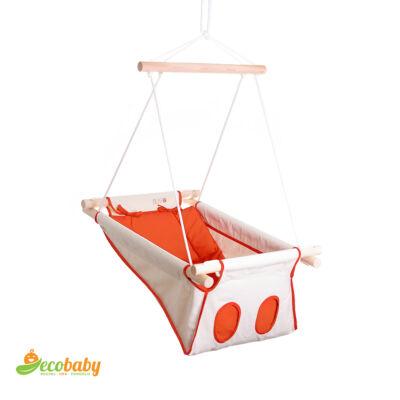 BETO hojdačka pre bábätká BASIC – Mediterranean Orange – prírodná oranžová