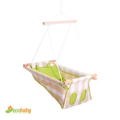 BETO hojdačka pre bábätká BASIC – Classic Green – zelená károvaná