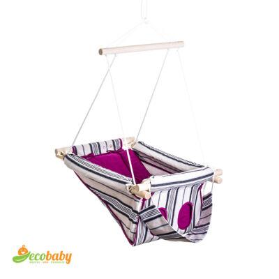 Balík sen bábätka - pruhovaná v fialovej farbe