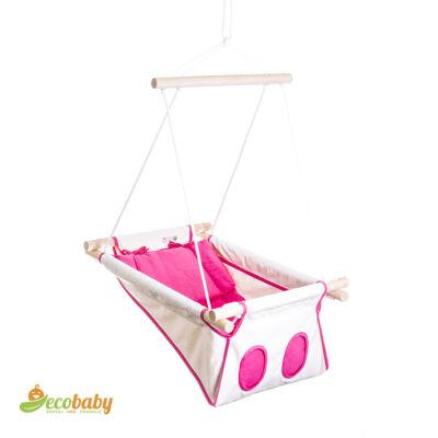 BETO hojdačka pre bábätká BASIC – Little Princess - prírodná ružová