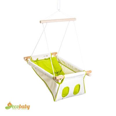 BETO hojdačka pre bábätká BASIC - Natural Line - prírodná zelená